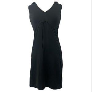 Athleta black sleeveless performance hooded dress